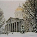 Statehouse in the winter
